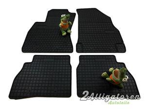 4 x Gummi-Fußmatten ☔ für FIAT Doblo II seitdem 2008