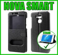 Custodia Huawei Nova Smart Flip Cover a Libro con Finestra Magnetica Portafoglio
