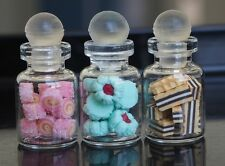 DOLLHOUSE MINIATURE 3 GLASS JARS OF COOKIES DESSERT FOOD BAKERY SUPPLY DECO N.03