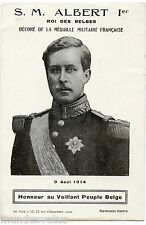 LE ROI ALBERT 1er. MILITAIRE. GUERRE. WAR. MILITARY. KING ALBERT 1er.