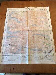 "HUGE 1964 RAF WAR OFFICE & AIR MINISTRY ""LOCH ARKAIG"" (35.5"" x 29.5"") MAP"