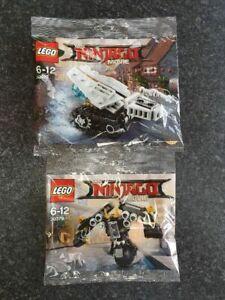 Lego -The Lego Ninjago Movie 30427 Ice Tank + 30379 - Quake Mech. New and sealed