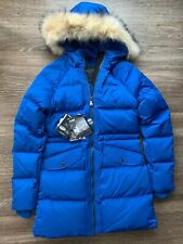 NWT $525 Pajar CANADA Blue Down Parka Coat Fur Corrie Snow Ski Size Small