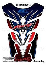 TH013RWB , MOTOGRAFIX - Tankpad , Tankprotektor , HONDA , Racing , blau rot