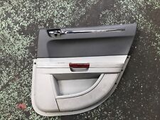 CHRYSLER 300C O/S/R DOOR CARD PANEL REAR DRIVERS SIDE GREY LEATHER