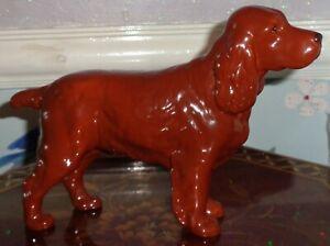 Beswick Cocker Spaniel Figurine No 967 HORSESHOE PRIMULA Brown Gloss