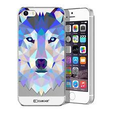 Coque Housse Etui Pour iPhone 5 / 5S / SE Polygon Animal Rigide Fin  Loup