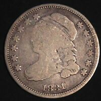 USA 1831 Capped Bust Dime 10 Cent Silber Selten 3487