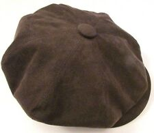 Baker Boy Cap 8 Piece Hat By Bates Of Jermyn St. London - Amaretta Brown Size 55