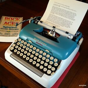 1958 Smith-Corona 5TE Portable Electric Typewriter, working beautifully.