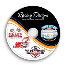 RACING DESIGNS CLIPART -VECTOR CLIP ART IMAGES + T-SHIRT GRAPHICS & TEMPLATES CD