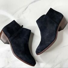 Sam Edelman Black Petty Suede Ankle Boots Booties Size 7.5