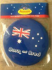 Australian Souvenirs Giant badge born & bred 14cm diameter metalbuy 1 get 1 free