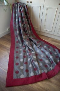 TAUPE DEEP RED BESPOKE BLANKET INTERLINED DOOR CURTAIN,31WX91D,EXTRA LONG,HEAVY
