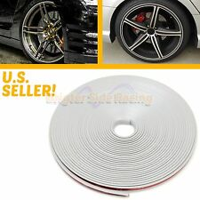 NO TOOL NEED SELF ADHESIVE ANTI-SCRATCH RIM TIRE PROTECTOR TAPE 4 WHEELS SILVER