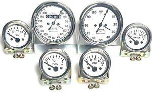 Smiths Gauges kit 80 mm Speedo Tacho,52 mm Temp Oil pressure Volt Fuel in White