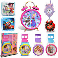 Disney Boy Girl Kids TV Character Wall & Alarm Clock Brand New Gift