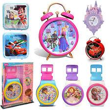 Disney Garçon Fille Kids TV Character Wall & Réveil Neuf Cadeau