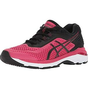 ASICS Womens GT-2000 6 Running Shoe, Bright Rose/Black/White, 8 B(M) US