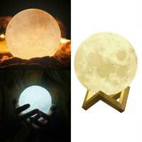 Moonlight Table Desk Moon Lamp Decor 3D USB LED Magical Moon HOT Light L5O9