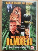 Isla de Dr. Moreau DVD 1996 Culto Mutations Terror Película con / Marlon Brando