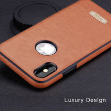 Premium Slim PU Leather Case For iphone X /7 Hybrid Protective Rugged Back Cover
