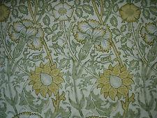 "WILLIAM MORRIS CURTAIN FABRIC DESIGN ""Pink and Rose"" 0.70 METRE COWSLIP & FENNEL"