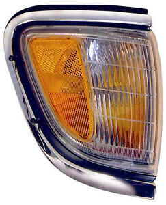 RIGHT Corner Light - Fits 95-96 Toyota Tacoma 2WD Turn Signal - Chrome
