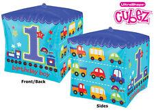 1st Birthday Boy Cubez 16� Trucks Cars Vehicles Foil Mylar Party Balloons