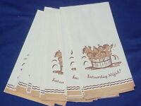 18 UNUSED Vintage Paper Guest Towels Saturday Night Babies in Tub Americana