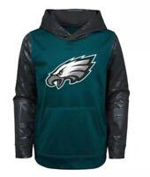 New NWT L/S Philadelphia Eagles Hoodie Sweatshirt Youth Boys Size XL 16/18