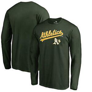Oakland Athletics Fanatics Branded Team Lockup Long Sleeve T-Shirt - Green