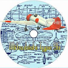 "Model Airplane Plans 1/12 Scale 36"" .19-,35 Control Line Mitsubishi Type 96 Plan"