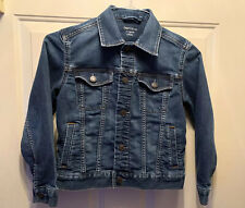 GapKids 1969. Girls Denim Blue Stretch Jean Jacket, Button Down. Size M