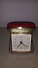 Vintage Aristocrat Artco Luminous Wind Up Alarm Clock RED