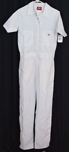 Dickies Women's Short Sleeve Flex Coverall White Size Small