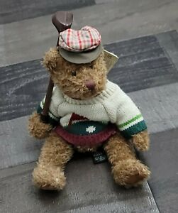 Russ Bogey Jr Plush Bear Golf Bears From The Past 8 Inch Collectible NWT