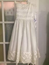 Girls' Cinderella White Ribbon Basketweave Dress Size 8