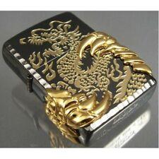 Black Ice Japanese Dragon -08 Zippo Lighter - Us Stock