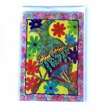 Lge Elf Greeting Card - original artwork by Donna Linton - pixie, fairy, flower