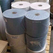 4 X 2 capas Industrial Azul Jumbo Parachoques tonel 1000 Hojas Ind centrefeed