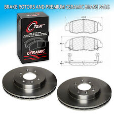 CK0061 Fit 1996-05 Honda Civic Front L+R Brake Rotors & Premium Ceramic Pad Set