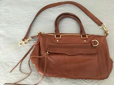 Rebecca Minkoff Large Brown Leather Satchel Shoulder Bag Purse