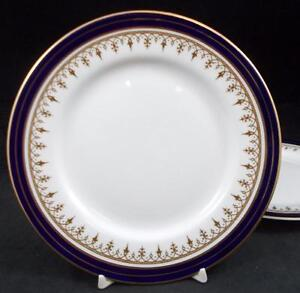 Aynsley LEIGHTON COBALT SMOOTH EDGE 2 Bread & Butter Plates GREAT CONDITION