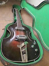 ♫ MIGMA Violingitarre, Archtop,vollmassiv, vintage Jazzgitarre DDR orig. CASE