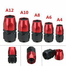 AN4/6/8/10/12 Straight Swivel Black Red Oil/Fuel/Air/Gas Line Hose End Fitting