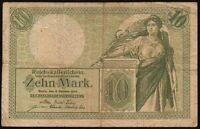 1906 GERMANY 10 MARK BANKNOTE * 2009106 * gF * P-9b *