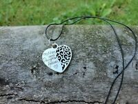 """Handmade mother/daughter necklace """"mother & daughter forever"""" on leather"""