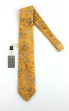 """NWT $195 Mens CANALI 1934 Yellow Blue Parsley Floral 100% Silk Tie Italy 3.25"""""""