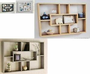 Multi Compartment Wall MountED Space Saving Display Bookshelf Storage(WHITE)